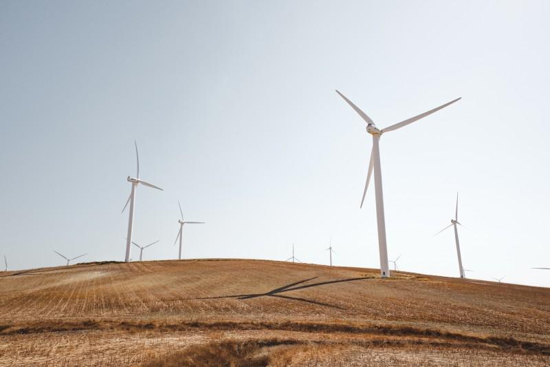 Wind turbines - Photo by Luca Bravo on Unsplash